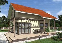 Проект двухэтажного четырехкомнатного дома 127,6 кв.м. из SIP панелей