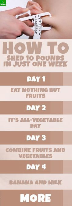 Here's the seven-day diet plan that can help reduce your body weight by five to ten pounds.