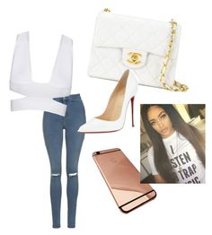 """""""Untitled #5"""" by natthomas2899 on Polyvore featuring Topshop, Chanel and Christian Louboutin"""