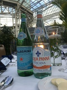 S.Pellegrino and Acqua Panna, a must for your dinner party.