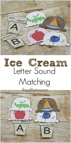 Free Ice Cream Letter Sound Match Printable.  Practice letters and letters sounds!