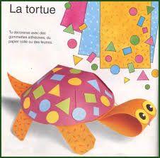 tortue bricolage - Recherche Google Art For Kids, Crafts For Kids, Arts And Crafts, Classroom Crafts, Preschool Crafts, Origami, Turtle Crafts, Sea Crafts, Animal Crafts