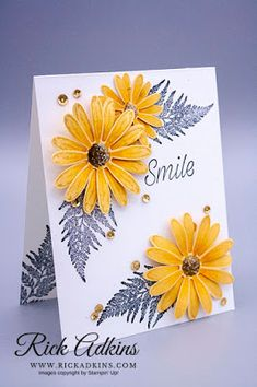 Smile - Daisy Lane Stamp Set, Rick Adkins, Stampin' Up! Daisy Delight Stampin' Up, Mama Elephant Stamps, Sunflower Cards, Stamping Up Cards, Handmade Birthday Cards, Homemade Cards, Making Ideas, Stampin Up, Card Making