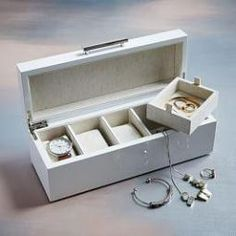 Mid-Century Watch Box - White Lacquer