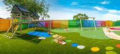 Duraturf artificial lawn by Belgotex is the ideal surface for playgrounds and play areas