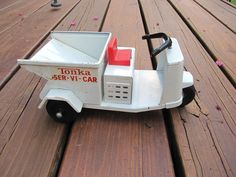 Tonka Ser-vi-car Tonka Trucks, Tonka Toys, Antique Toys, Vintage Toys, Fat Bike, Pedal Cars, Kids Toys, Harley Davidson, Creepy