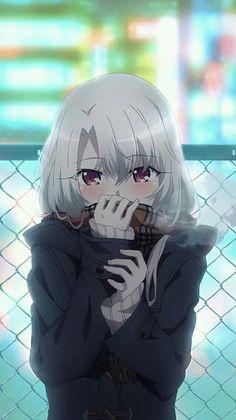 """""""Hey, it''s cold, can you come warm me up :) *Guys thoughts* Kawaii"""" Kawaii Anime Girl, Pretty Anime Girl, Beautiful Anime Girl, Anime Art Girl, Manga Girl, Anime Girls, Beautiful Dream, Manga Japan, Lolis Anime"""