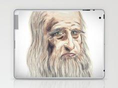 Leonardo da Vinci Colorful Laptop & iPad Skin by André Minored - $25.00