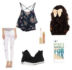Made by me Mercedes :) Untitled #14 by mercedes-may-mccoy on Polyvore featuring polyvore, fashion, style, Paige Denim, Converse, Casetify and AERIN