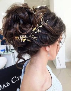 Vintage Hairstyles For Prom Peinados románticos - Easy Updo Hairstyles, Elegant Hairstyles, Vintage Hairstyles, Wedding Hairstyles, Hairstyle Ideas, Bangs Hairstyle, Bridesmaid Hairstyles, Black Hairstyle, Messy Wedding Updo