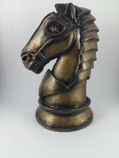 Escultura Cavalo de Xadrez