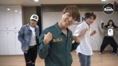 Hoseok put on the shirt with 'KILL' on it probably for purpose.. CAUSE I FEEL KILLED/ Tae wat r u doin | BTS