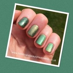 CND Shellac Frosted Glen with Additives and Lecente Glitters