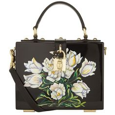 Dolce & Gabbana Plexiglass Tulip Top Handle Bag (€3.725) ❤ liked on Polyvore featuring bags, handbags, evening handbags, structured purse, vintage purses, top handle bags and holiday purse