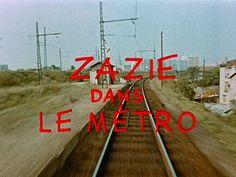 zazie dans le metro opening credits type is yummyyyyyyy Blu Ray Movies, Hd Movies, Retro Typography, Opening Credits, Title Sequence, Title Card, Movie Titles, French Films, Film Stills