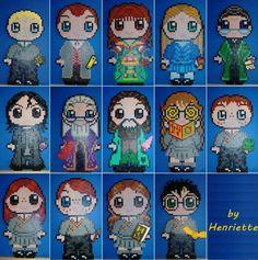 Hama/perler beads- Harry Potter themed
