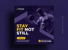 Social Media Banner, Social Media Template, Social Media Design, Banner Template, Flyer Template, Gym Banner, Case Study Template, Fitness Flyer, Facebook Cover Template