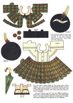 paper doll dress - Scottish kilt