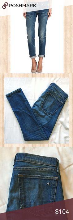 "Rag and Bone The Dre slim fit skinny jeans Rag and Bone The Dre slim fit skinny jeans. Great condition!  Waist: 16"" Rise: 8.5"" Inseam: 31"" Leg Opening: 6"" rag & bone Jeans Skinny"