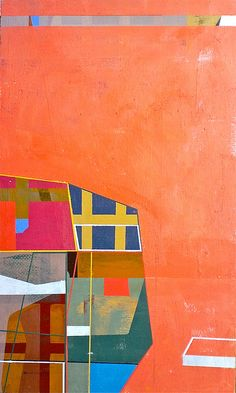 "Jim Harris: Module 1967. Oil on panel 18"" x 10.5"" 2013 #colorful #abstract #art"