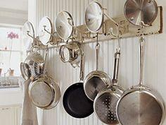 vintage coat rack as pot hanger