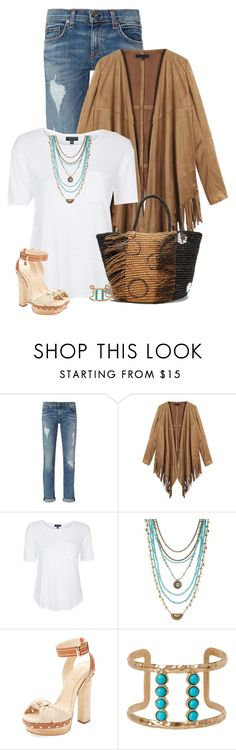 """""""Warm Days Cool Nights"""" by sherry7411 ❤ liked on Polyvore featuring rag & bone, Topshop, Lucky Brand, Schutz, Natasha Accessories and Sensi Studio"""