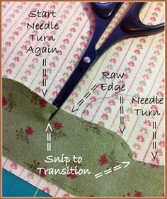 Karen's Quilts, Crows and Cardinals: Needle Turn Applique Catch Up and Process - uitleg