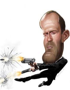 Jason Statham transporter.jpg :: Rich Conley Caricatures