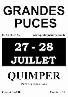 Grandes puces de Quimper 2013. Du 27 au 28 juillet 2013 à Quimper.
