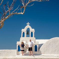 An anniversary shoot on stunning Santorini, by destination wedding photographers Erika & Ryan of Rowell Photography