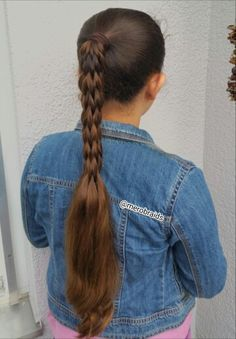 Multistrand pull through braid in a ponytail