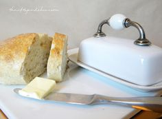 Add a cabinet door handle to an old butter dish for a touch of vintage charm.