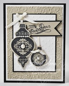 Stampin Up Christmas Card Samples | Celona, Stampin' Up! Demonstrator Ornaments Keepsake Christmas Card ...