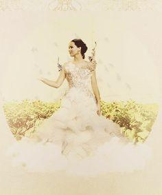 Jennifer Lawrence con su vestido de novia