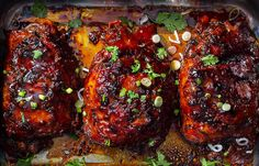 What a good feeling it is to come home at night to these tender honey glazed turkey thighs, simmered in the crock pot in a rich luscious brown gravy! A little spicy. Plenty savory. Mad delicious — ...