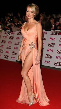 BGT star Amanda Holden's sexiest ever looks after she raises eyebrows with plunging dress on The One Show – The Sun Amanda Holden Bgt, Sexy Outfits, Sexy Dresses, Fashion Dresses, Glamorous Dresses, Formal Dresses, White Frock, Cream Outfits, Blondes