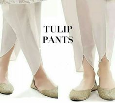 White Silk Tulip Shalwar with Pearl Embriodery, Tulip Pant, Dhoti Shalwar by KaamdaniCouture on Etsy Churidar, Anarkali, Salwar Kameez, Fashion Pants, Fashion Outfits, Casual Outfits, Tulip Pants, Salwar Pants, Pakistan Fashion