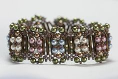 Demigod Crossweave Bracelet / stitched / complete in an evening / intermediate / FREE INSTRUCTIONS