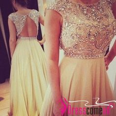 New fashion!2014 custom a-line scoop crystal sleeveless long prom dress,evening dress,backless dress,party dress,homecoming/formal dress pm08