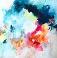 Intermezzo. Abstract Art by Sana Jamlaney. 36x36 in. 2016