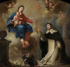 Maria la entrega el Rosario a santo Domingo , Museo de el Prado