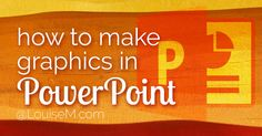 Know how to make graphics in PowerPoint? If this is an app you own and use, you'll love using it to make your own graphics. Learn the basics here!