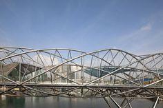 Helix Bridge, Singapore. This is wicked pedestrian bridge.