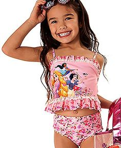 80ac54b7415eb Amazon.com: Disney Store Little Girls' Disney Princesses Glitter Accents  Deluxe Swimsuit: Clothing. Cute SwimsuitsDisney ...