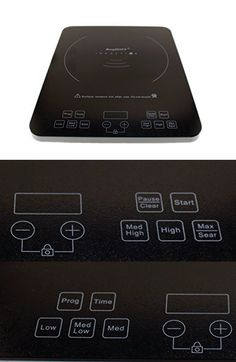 BergHOFF Commercial Grade 1800 Watt Portable Touch Screen Induction Cooktop  Stove, Single Countertop Burner