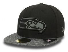 Seattle Seahawks Grey Collection 59Fifty Fitted Baseball Cap by NEW ERA x NFL