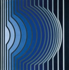 I particularly love this image by Vasarely as the linear movement and colours that are used make the image look 3D. Fantastic optical illusion.