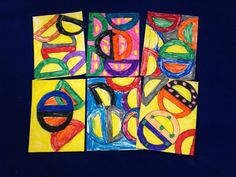 Frank Stella inspired drawings