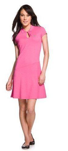 Lacoste Women's Short Sleeve Dress Rose Size « Clothing Impulse