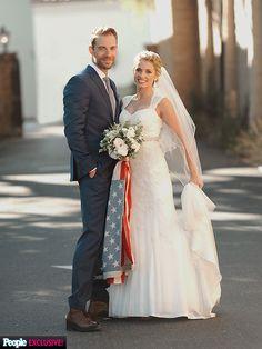 Plain White Ts Tim Lopez with his David's Bridal bride, Jenna!